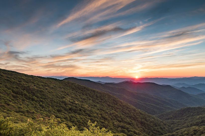 Summer Sunset at Craggy Gardens