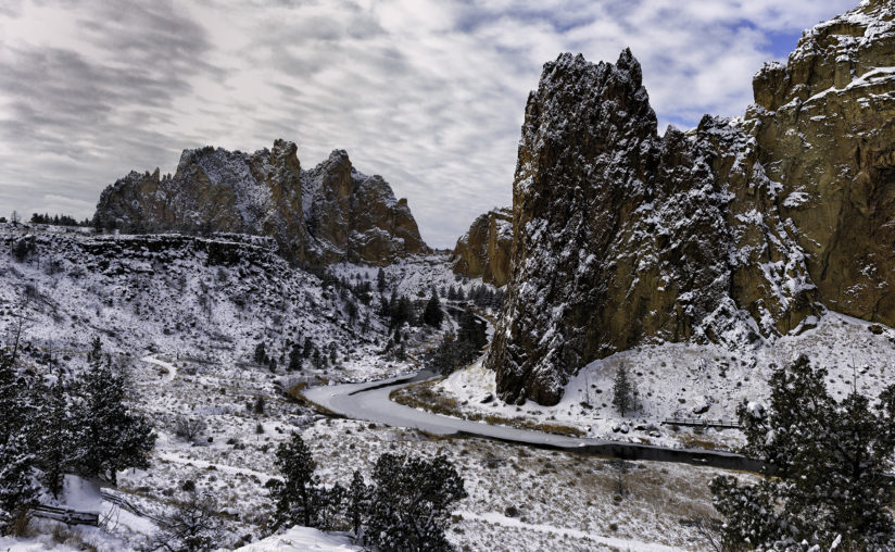 Winter, Smith Rock and the Crooked River