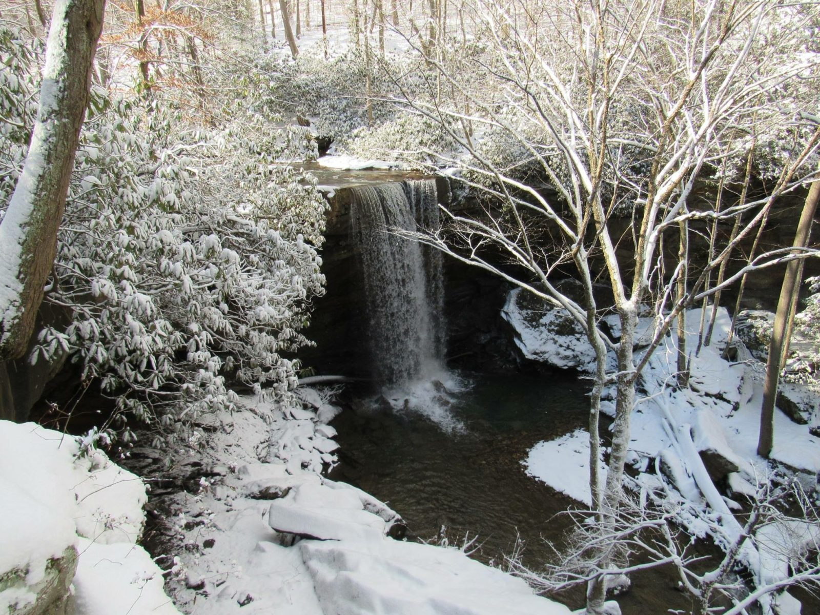 Cucumber Falls in Winter