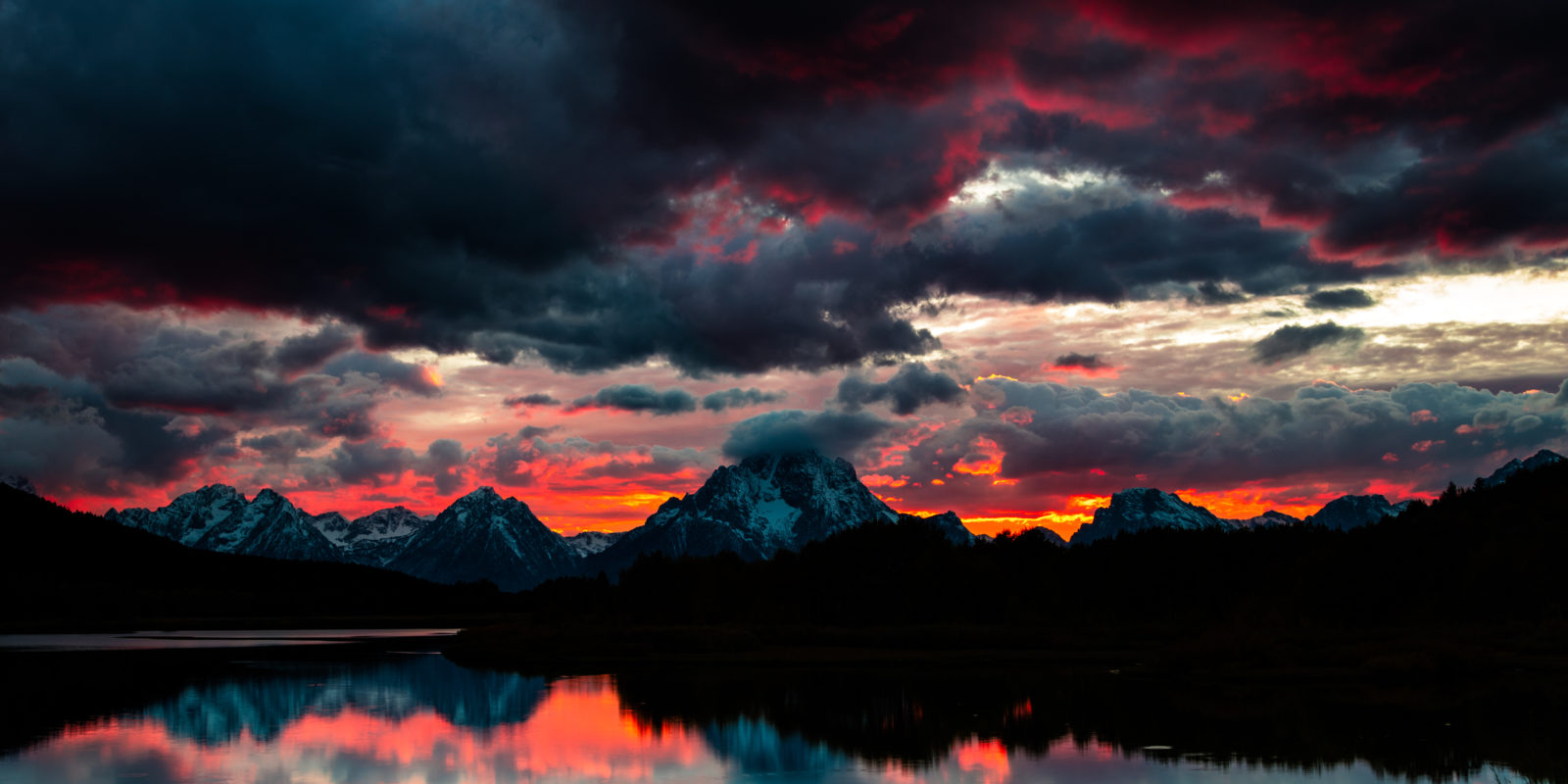 Oxbow Bend Fall Sunset