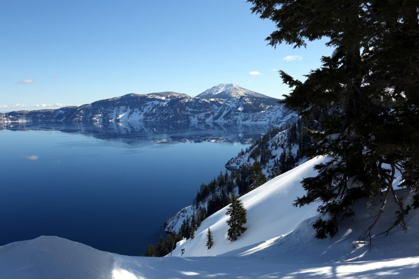 Crater Lake to the Right