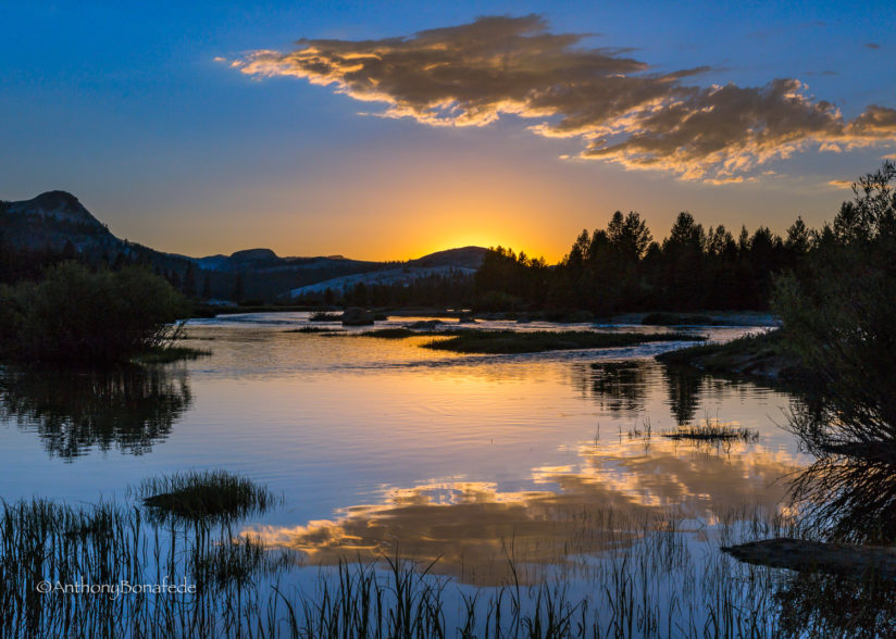 Tuolumne River Sunset