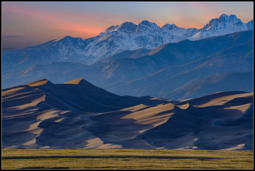 The Great Sand Dunes at Sunset