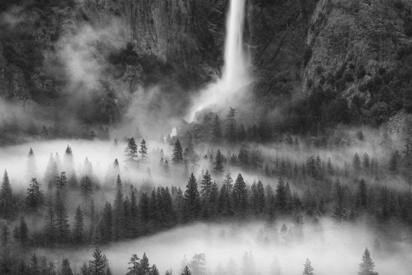 Valley Mist and Bridalveil, Yosemite
