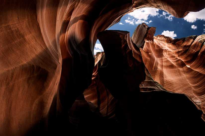 Antelope Canyon and Sky