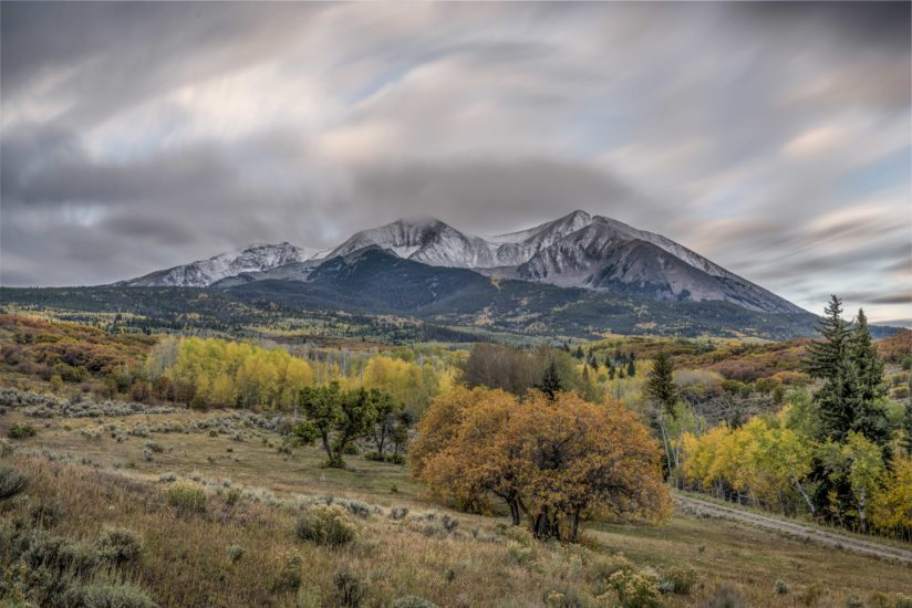 Clouds swirling at Sopris Mountain