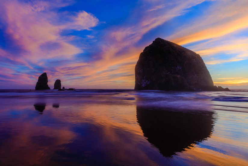 Reflections of Haystack Rock