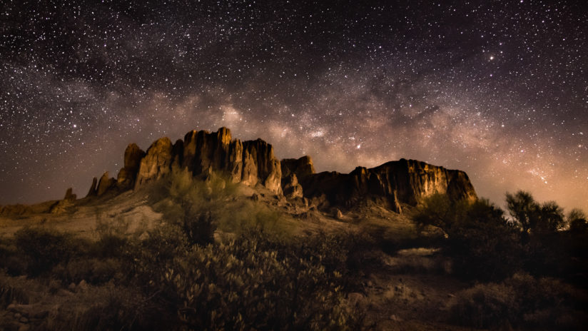 The Milky Way Above Flat Iron