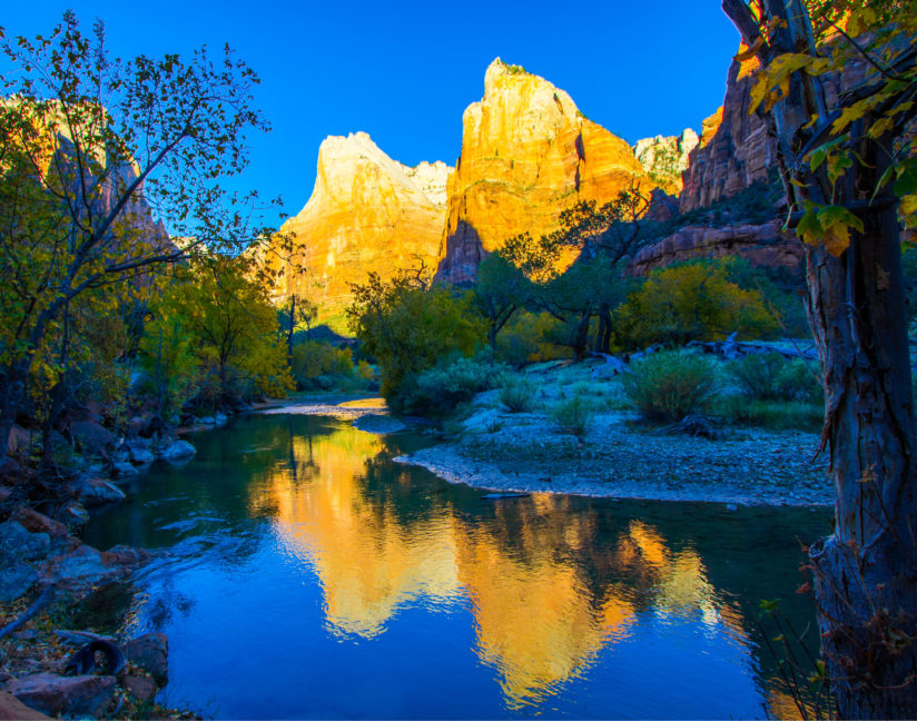 The Patriarchs of Zion National Park