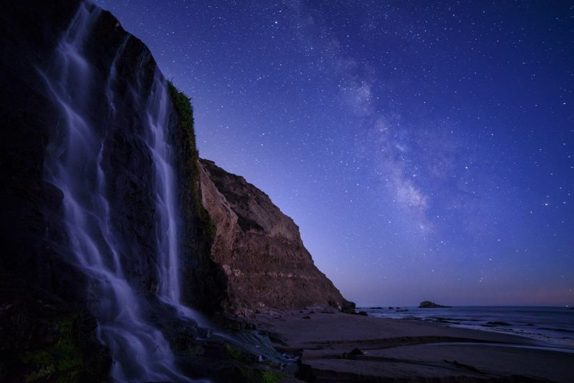Milky Way over Alamere Falls, Point Reyes, CA