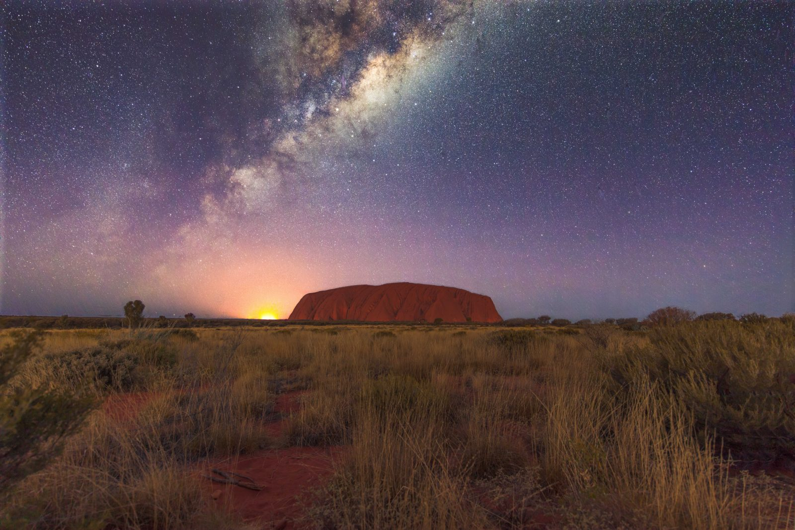 Bushfire and Ayers Rock