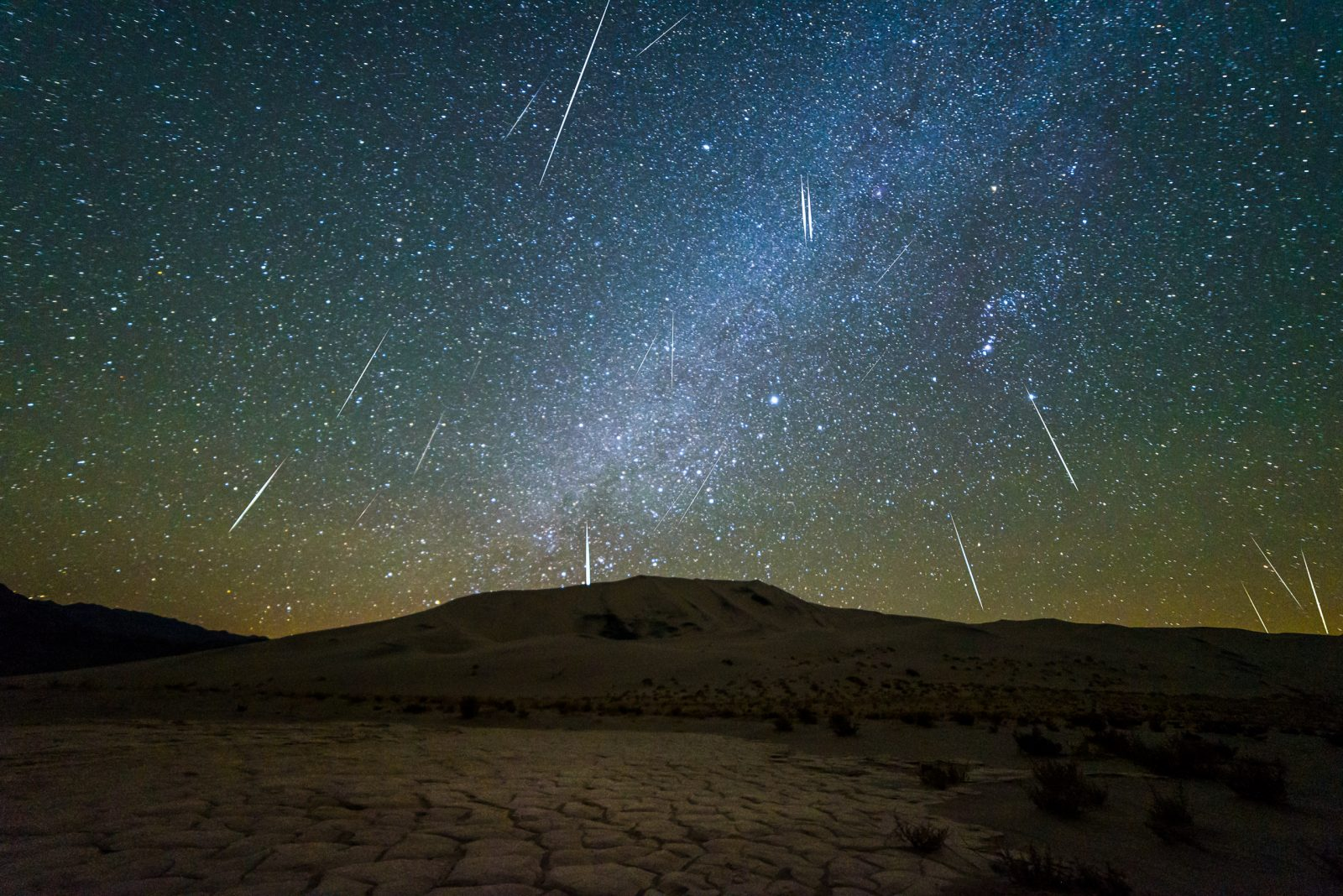 Nature's Fireworks Over Death Valley
