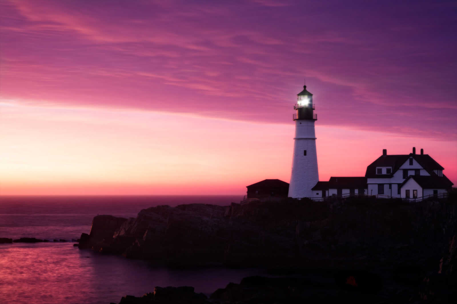 Lighthouse before Sunrise