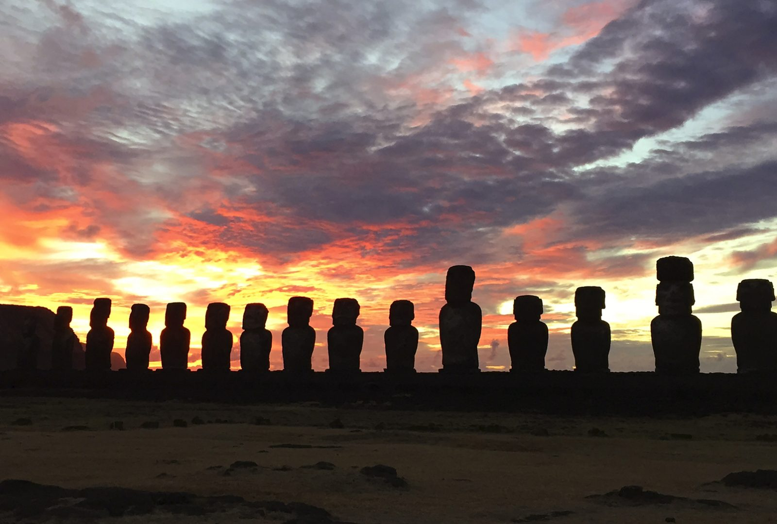 Easter Island El Rongatiki at Sunrise