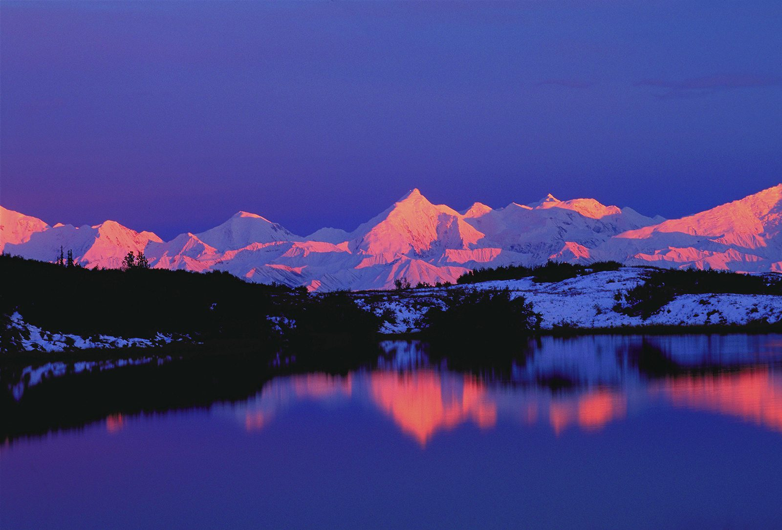 Alaska Range at Dawn