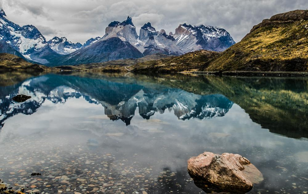Torres del Paine Lake Peohe Reflection