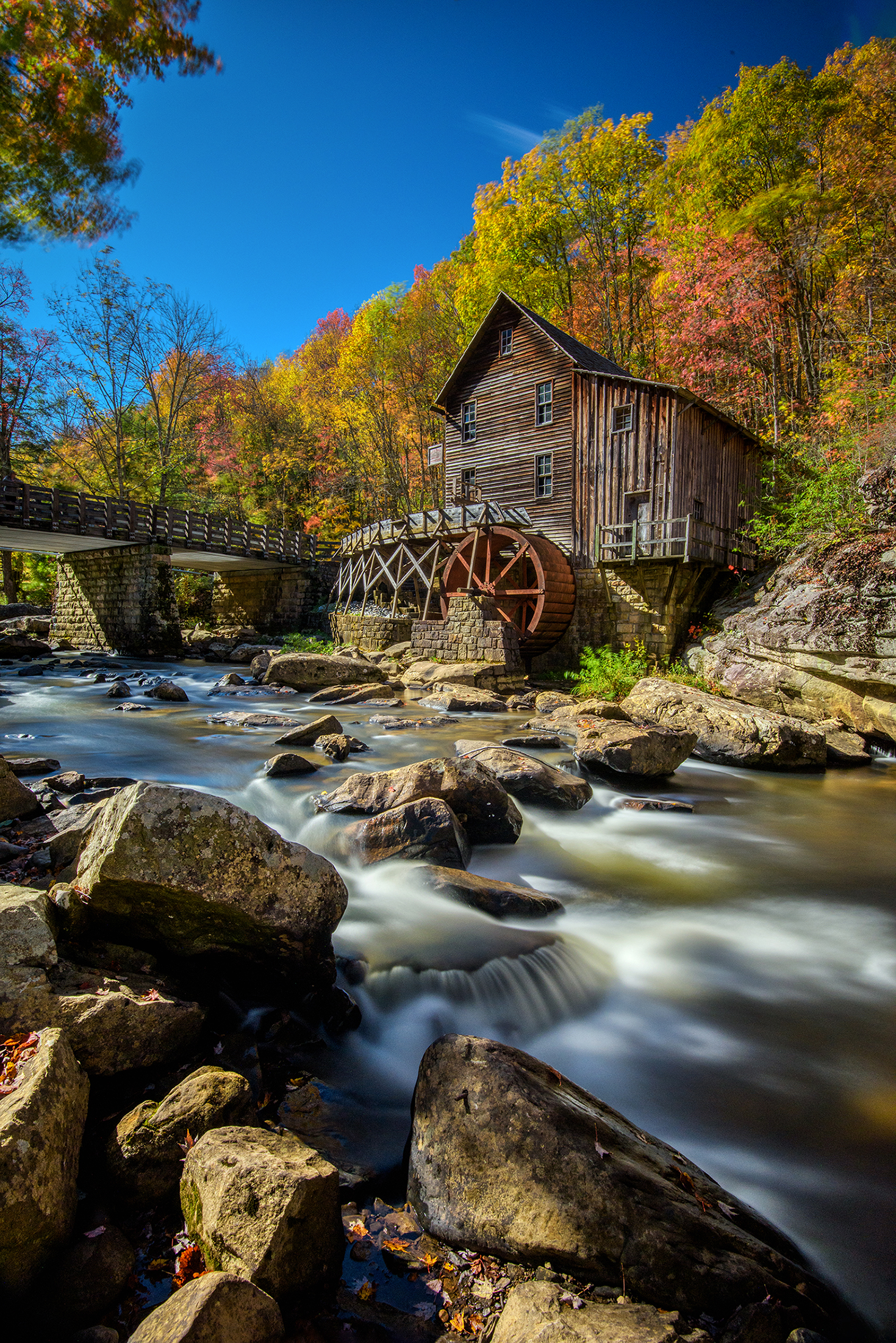 Picturesque watermill in autumn