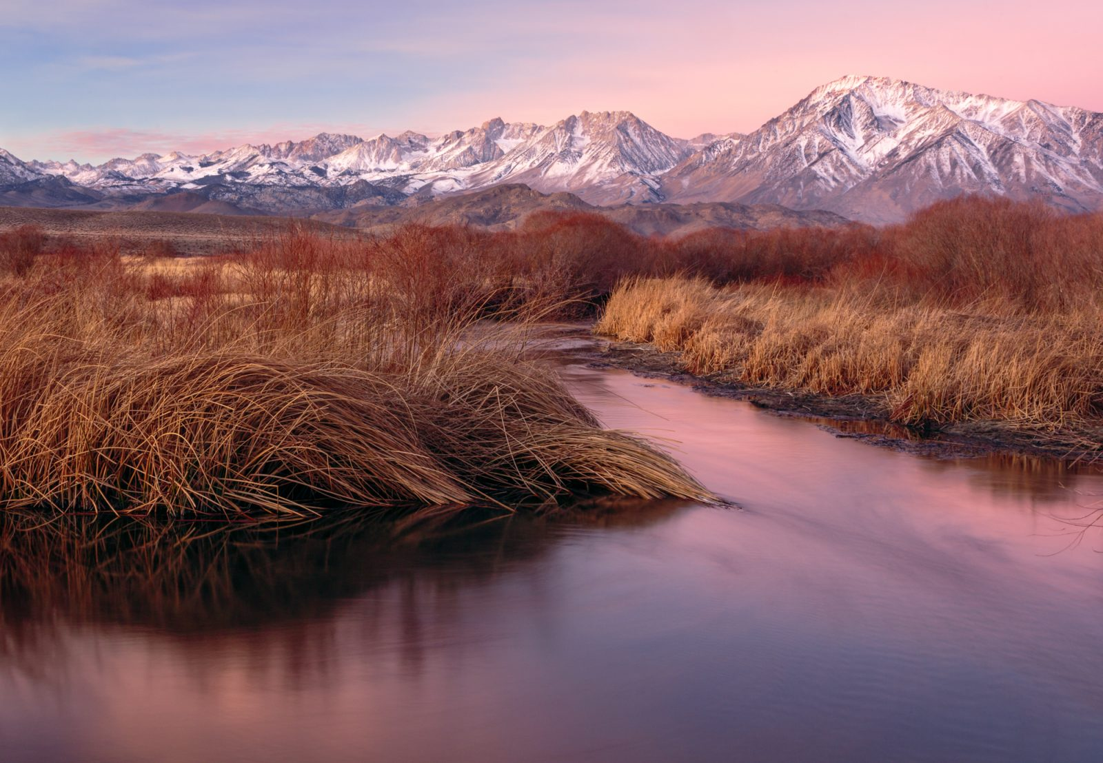 Sunrise on the Owens River
