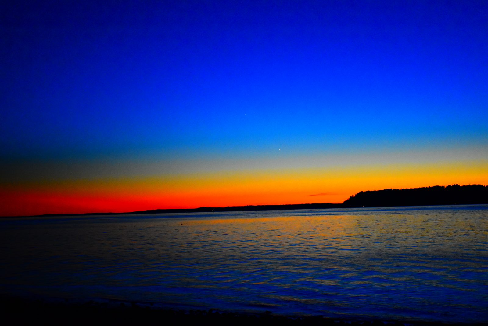 Blue Sunset with a touch of Red