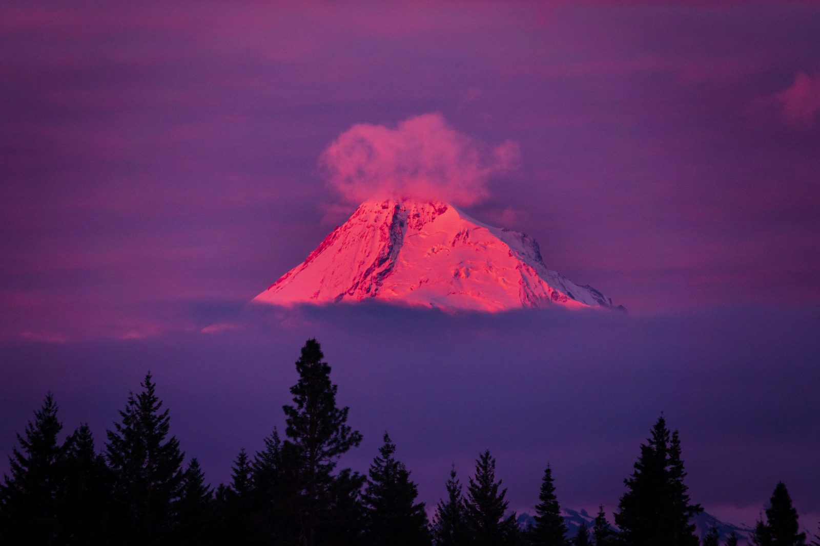 Sunrise Colors on Mt Hood