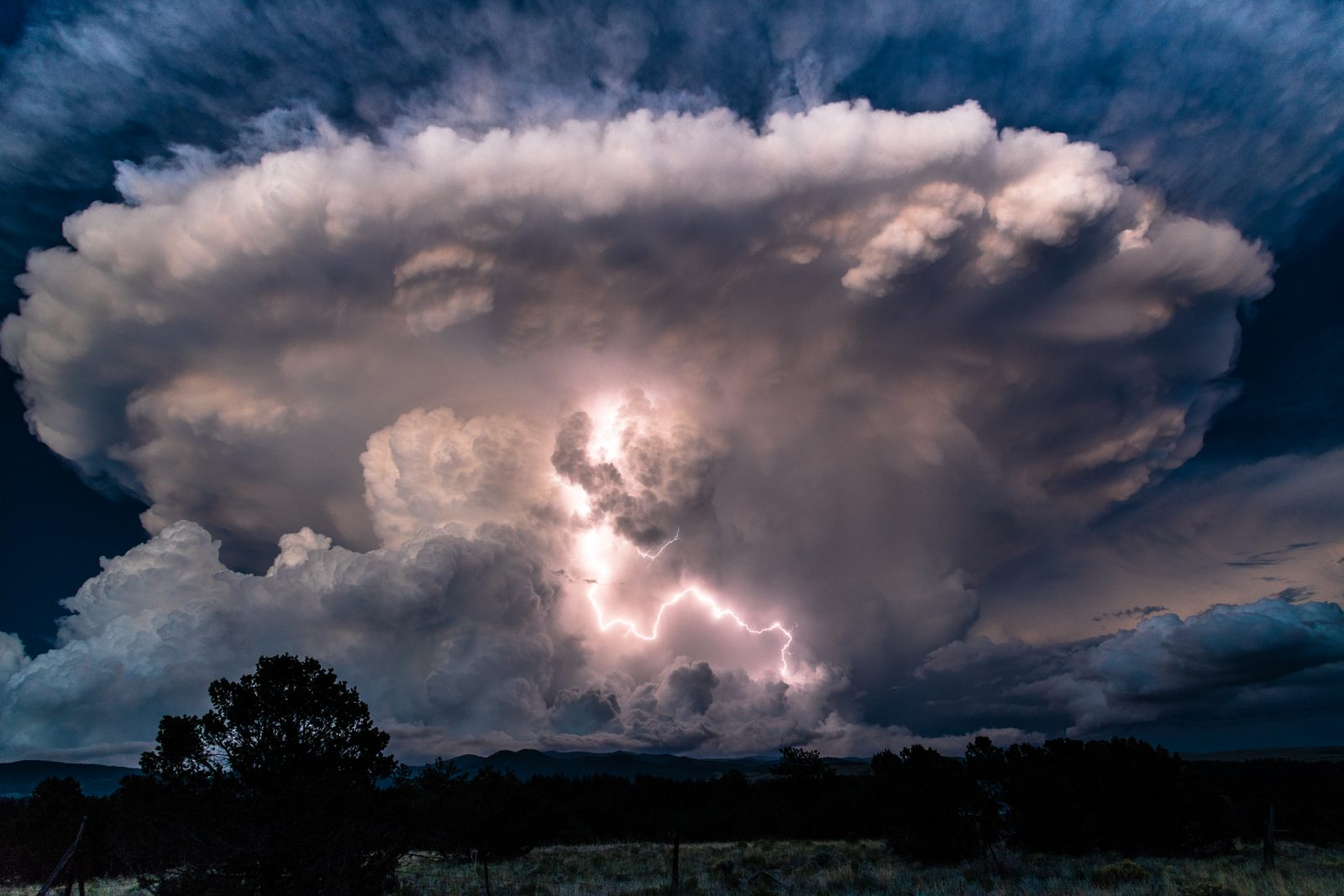 Lightning Exploding From Cloud