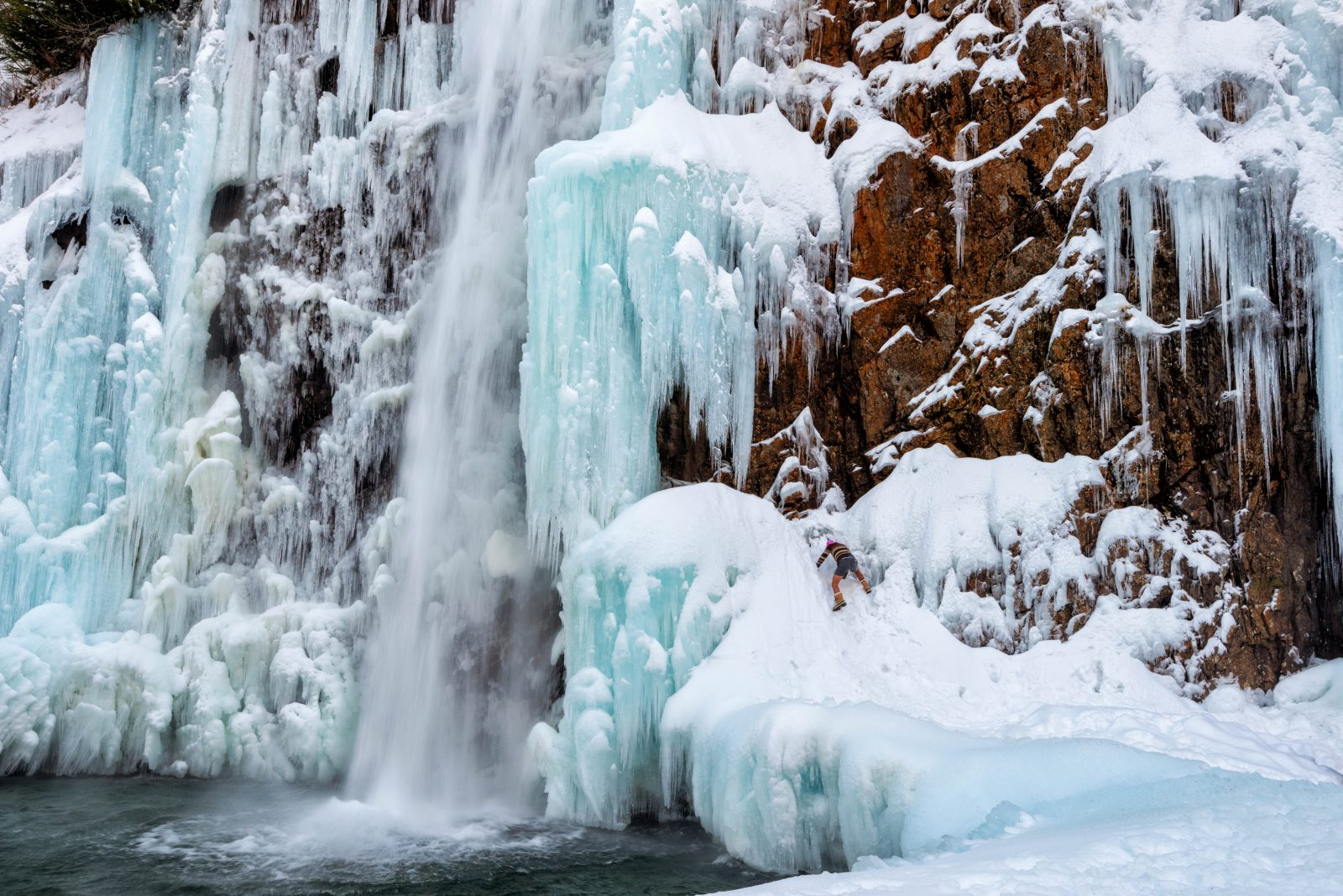 Frozen Franklin Falls