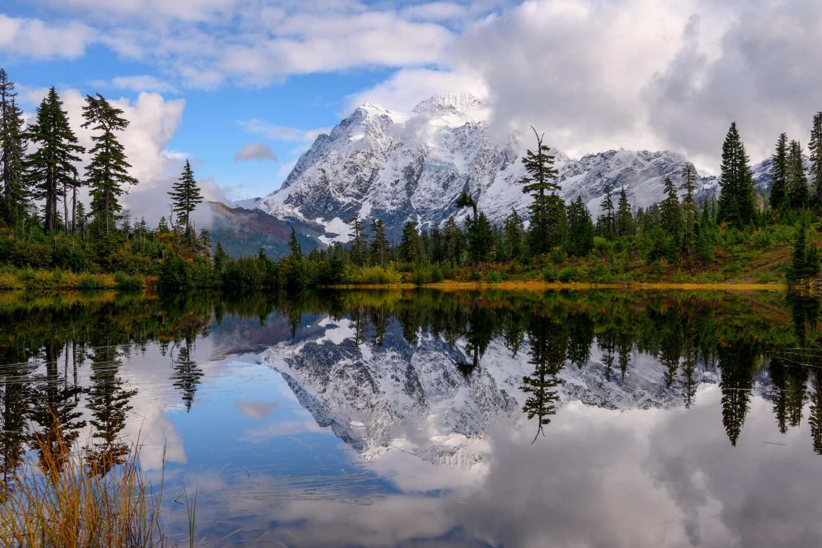 Mount Shuksan and Picture Lake