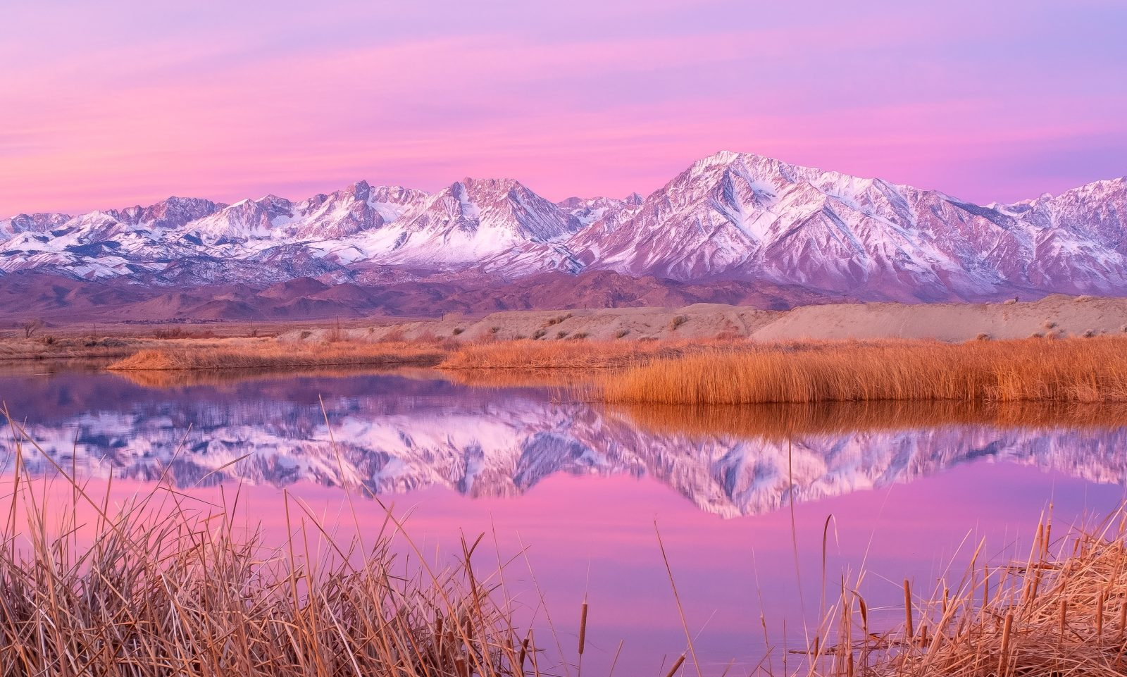 Eastern Sierra Skyline Reflection
