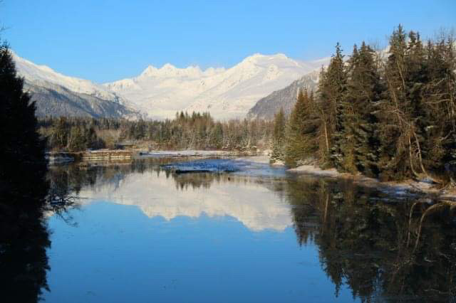 Reflections off the Mendenhall River