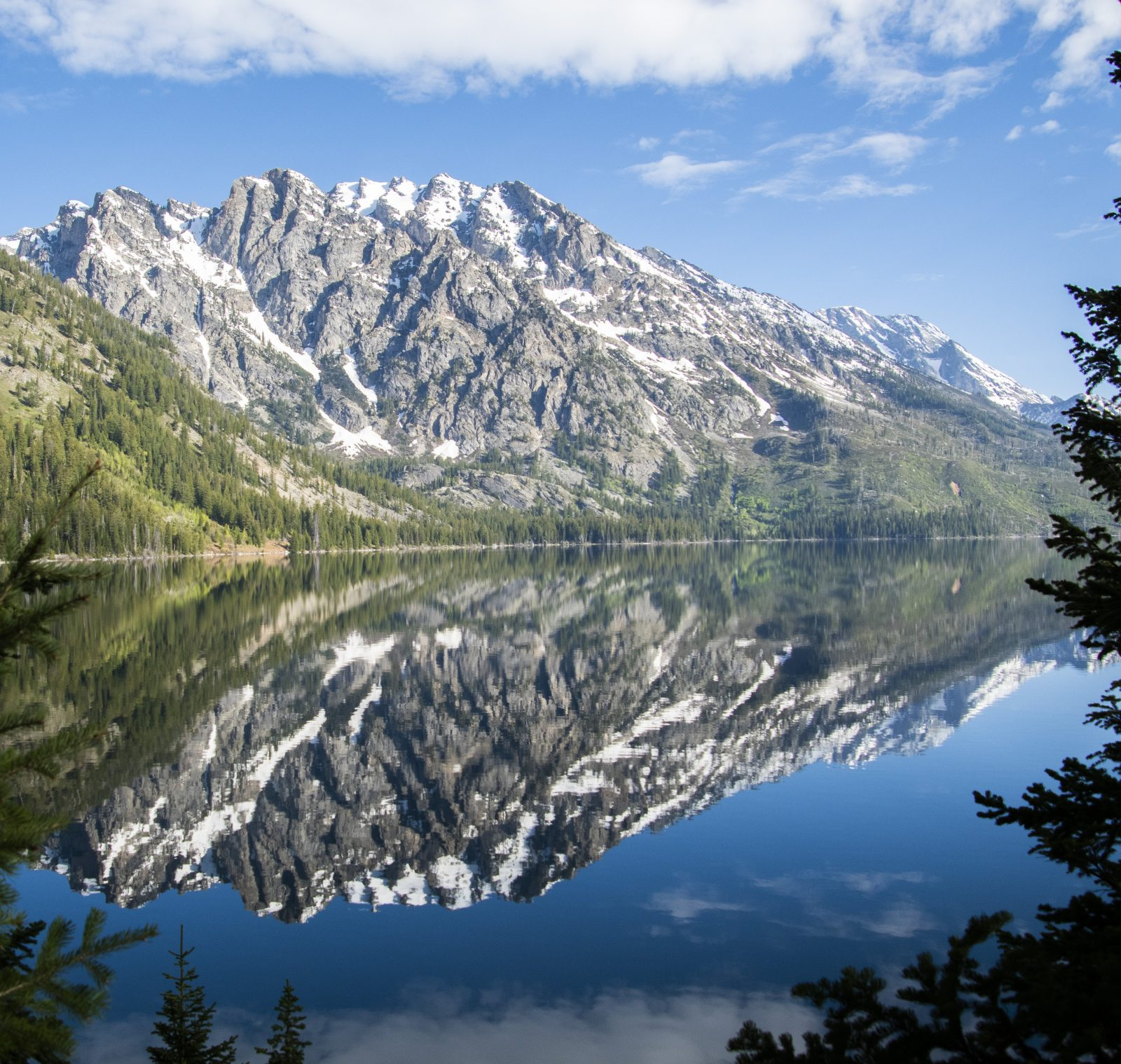 Tetons Reflecting in Jenny Lake