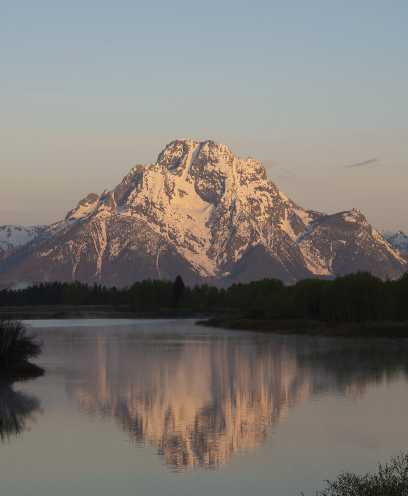 Tetons Reflecting at Sunrise