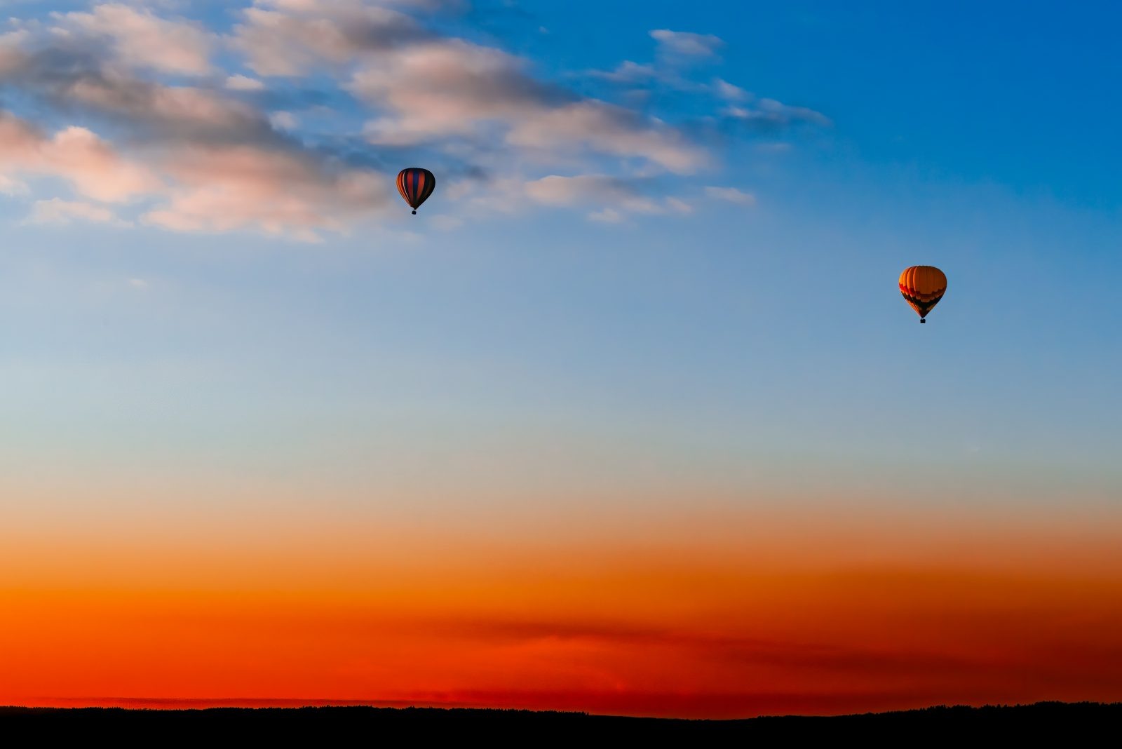 Summer Ballooning at Sunset