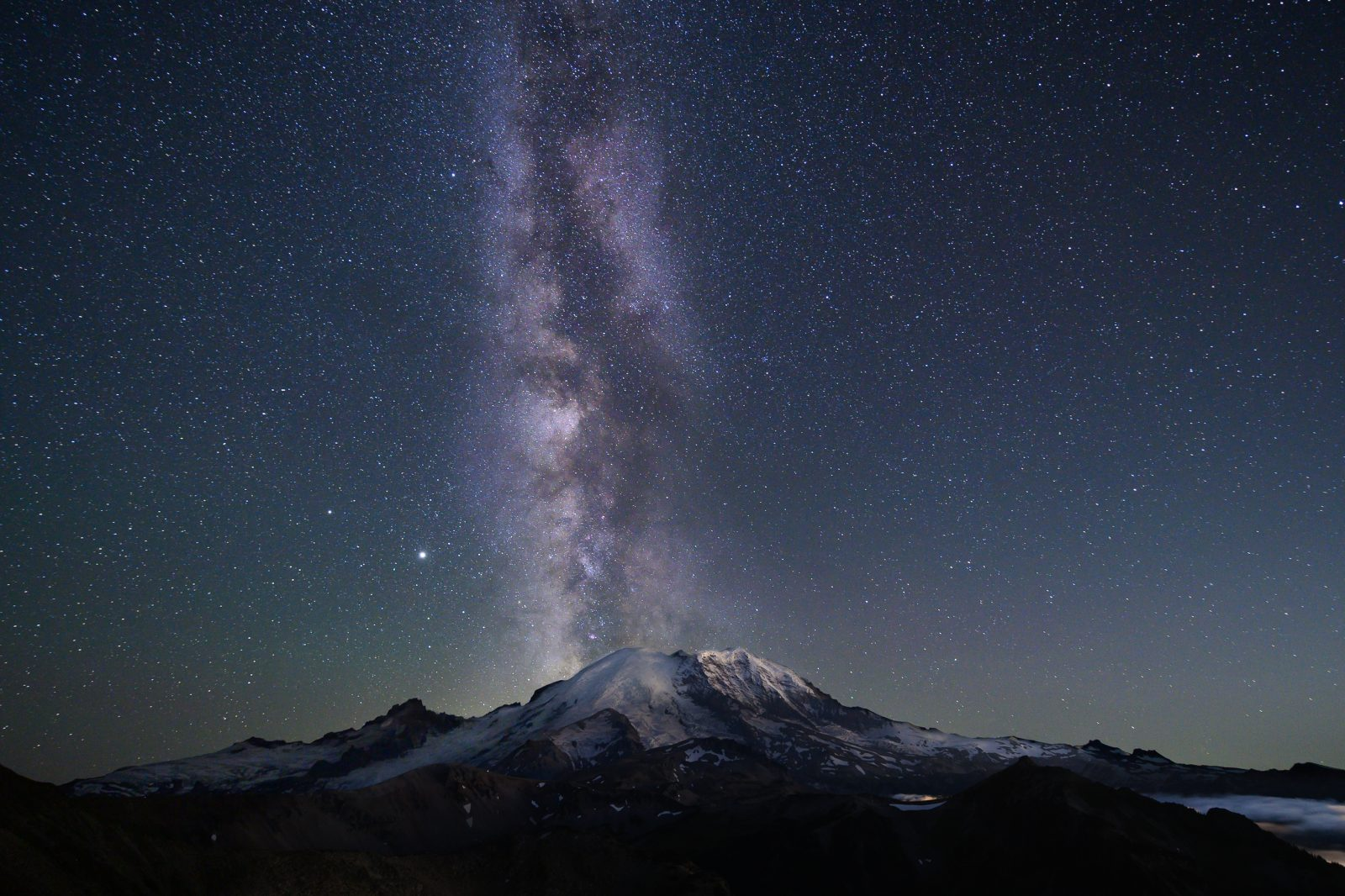 Mount Rainier After Dark