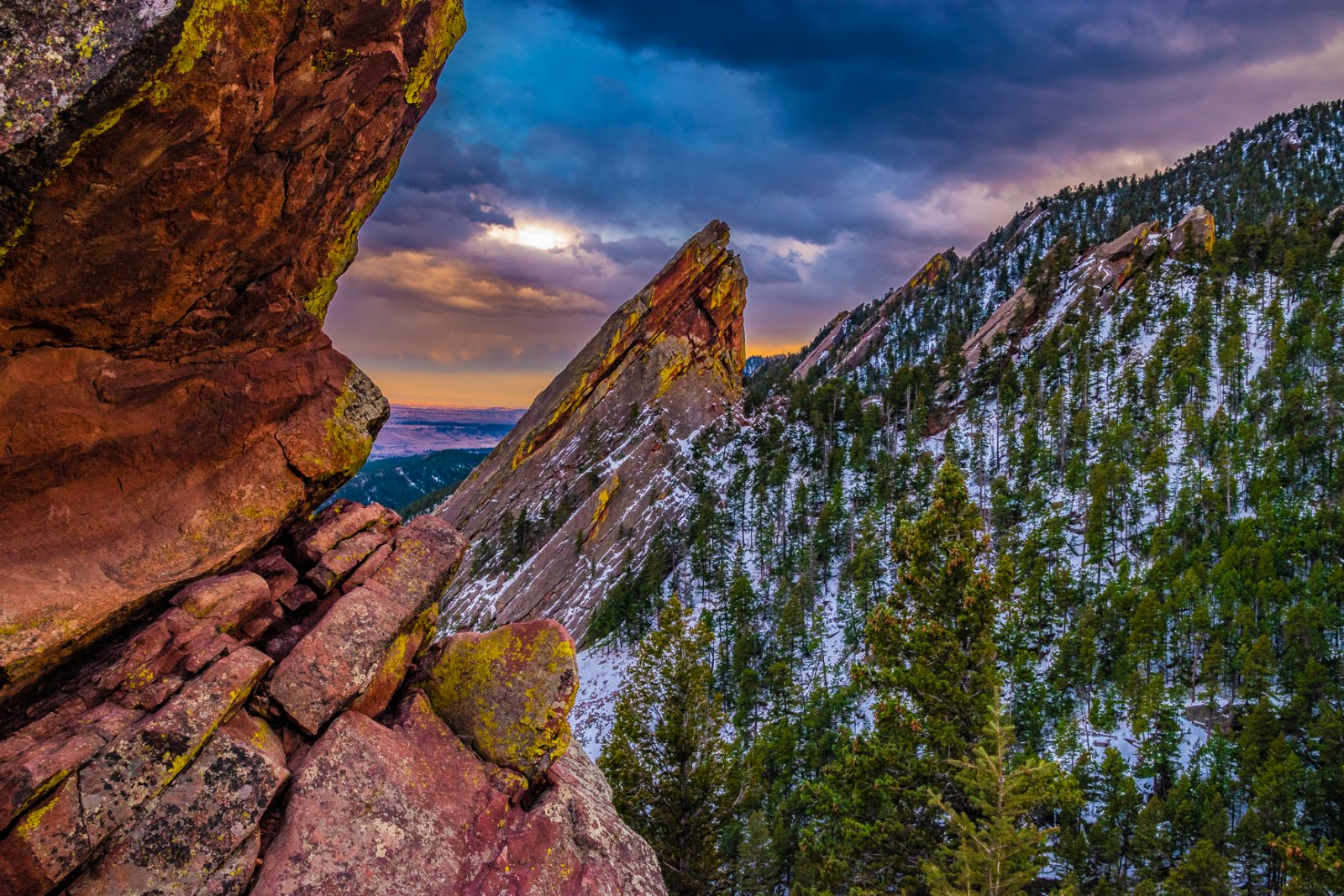 Sunset on the Flat Irons