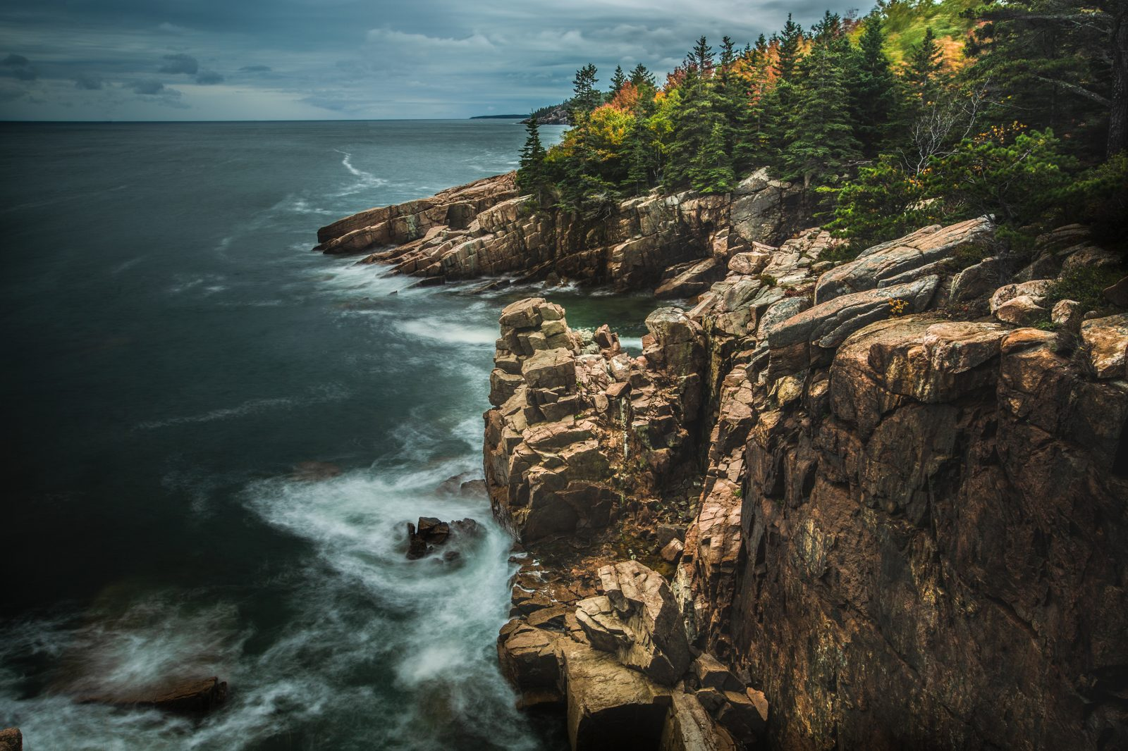 Ocean view from bluff, Acadia National Park, Maine