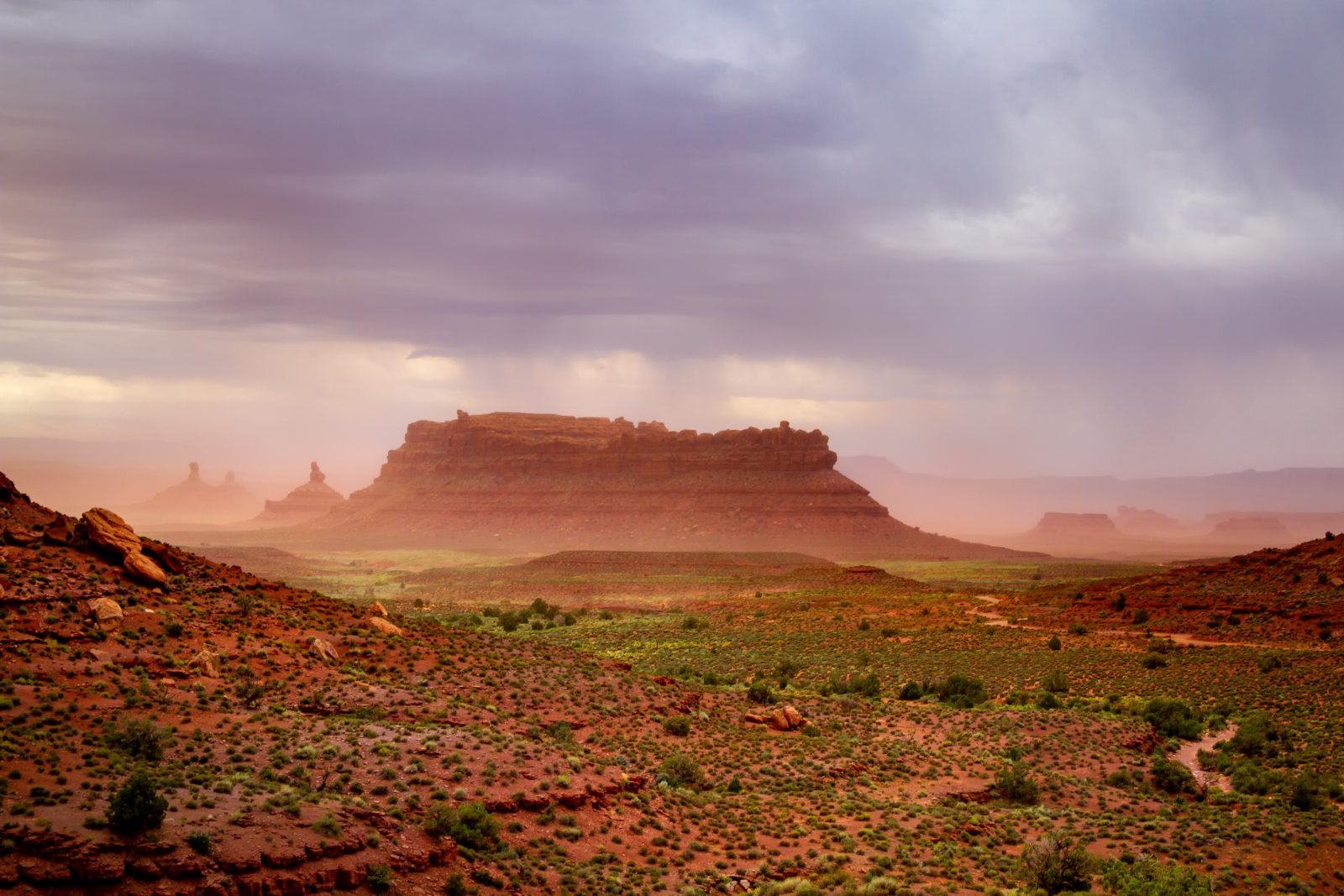 Summer Storm Over Valley Of The Gods