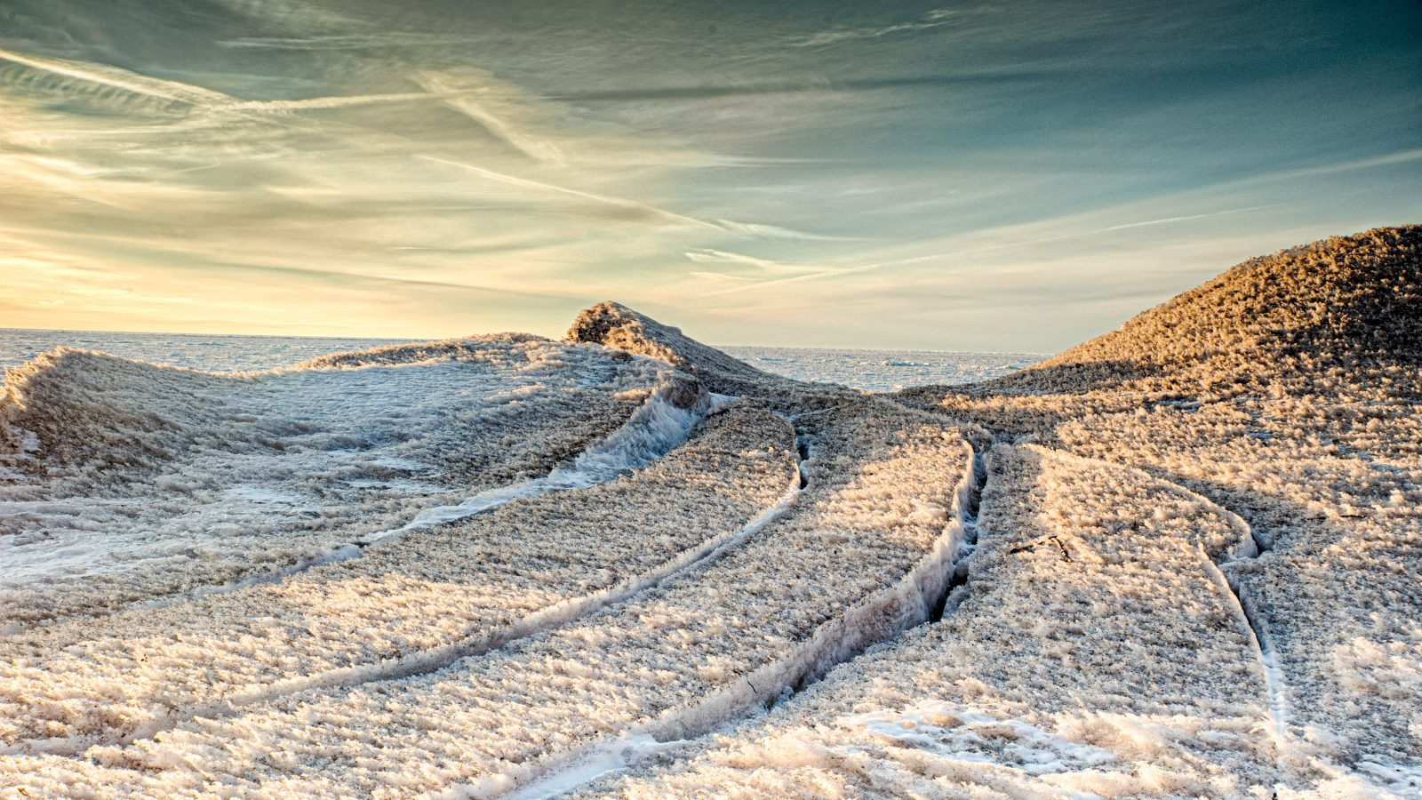 Ice road to the evening sky – 8103