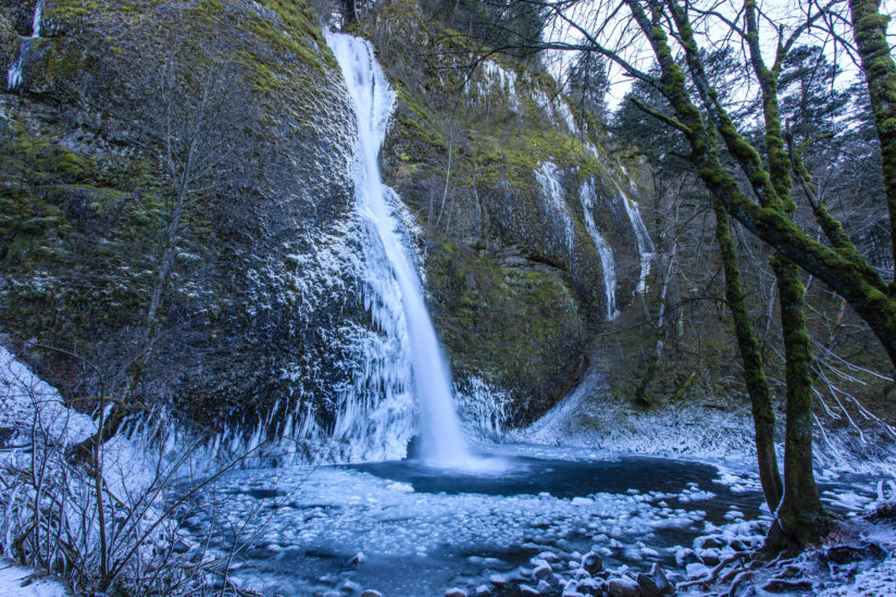 Icy Horsetail Falls