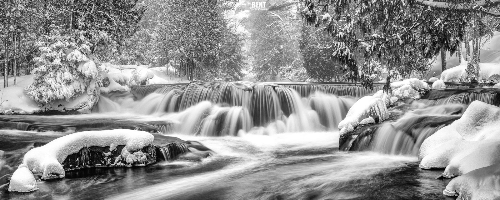 A Bond Falls Winter