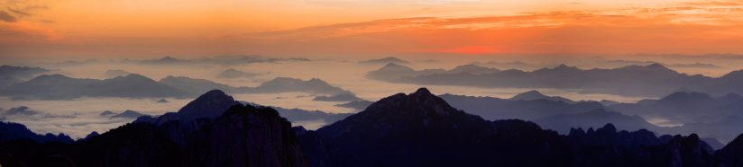 Dawn over the Huangshan Mountains