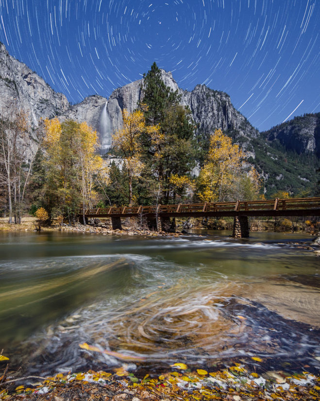 Yosemite Falls and Merced River Fall Swirls