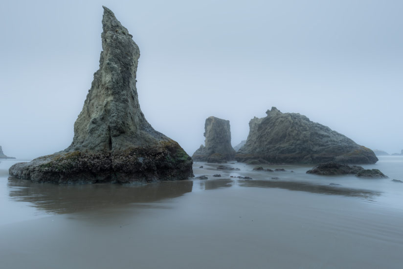 Gray Morning at Bandon, OR