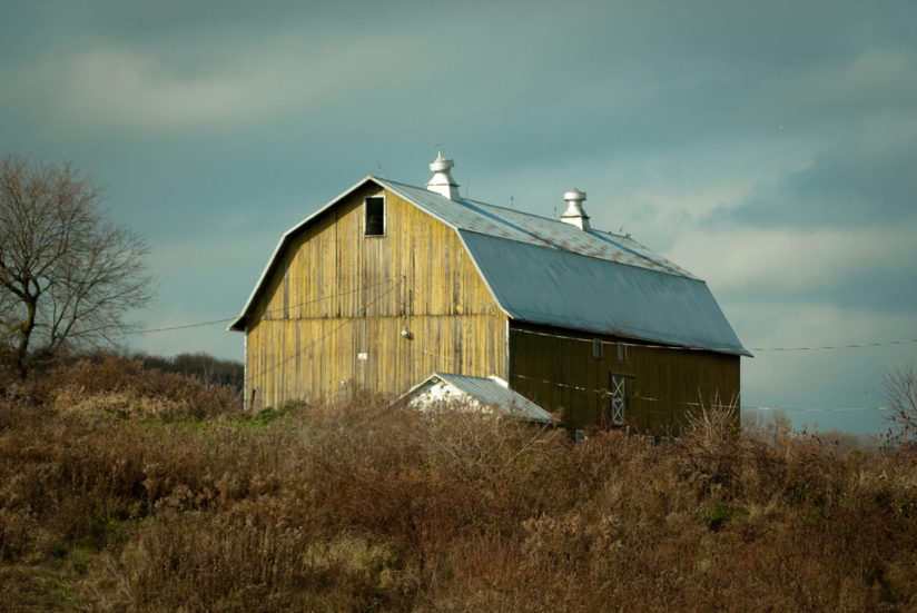 Aged Barn Along the NY State Country Side Landscape Photo