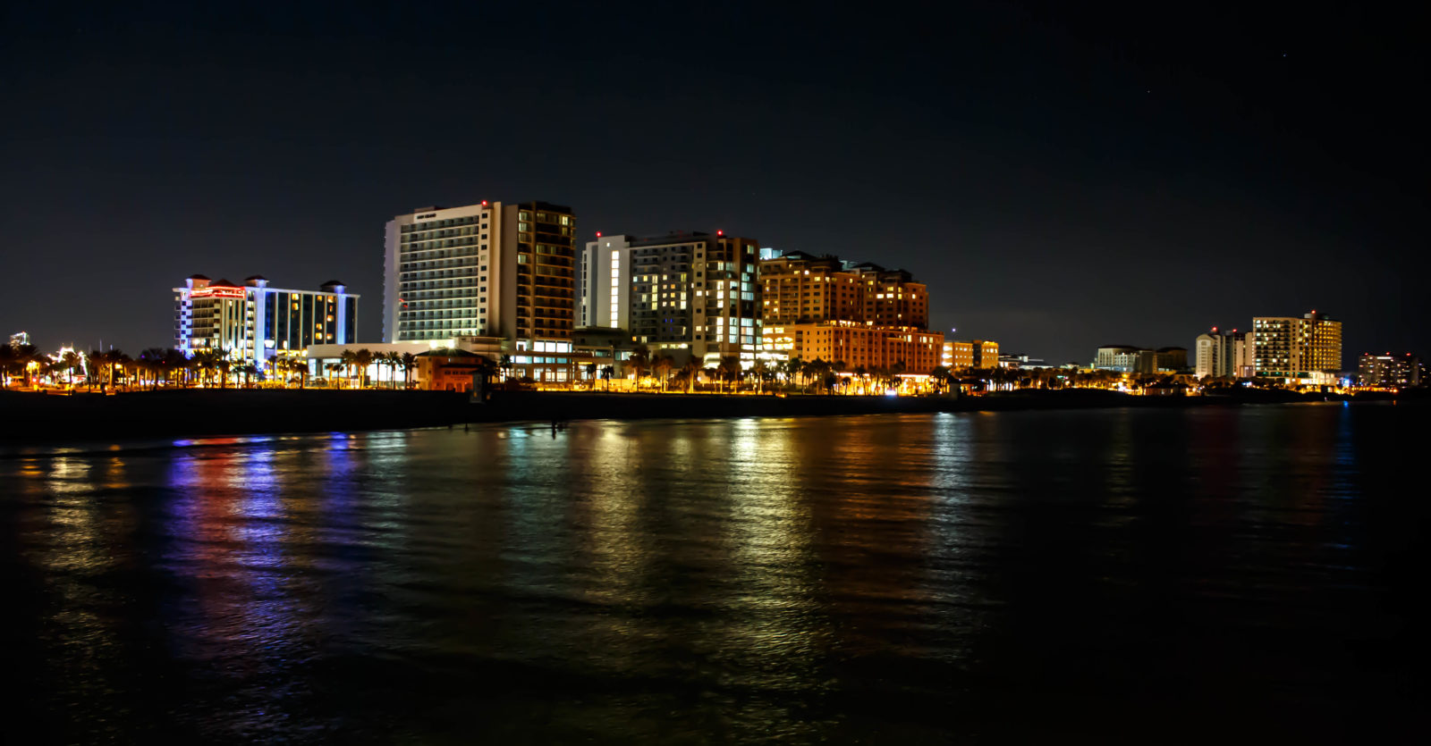 Clearwater Beach City Lights