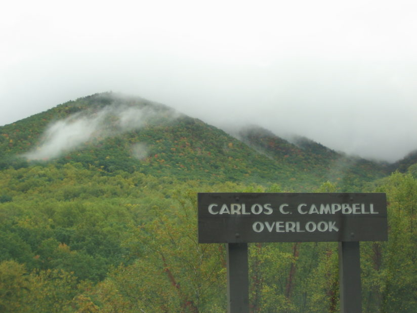Clouds skimming the Great Smoky Mountains