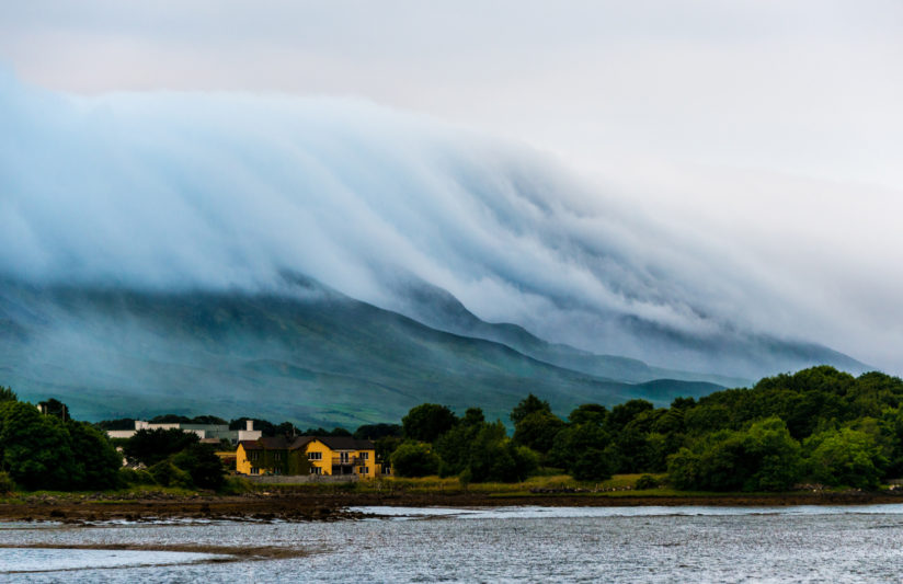 "Clouds on "" Croagh Patrick """