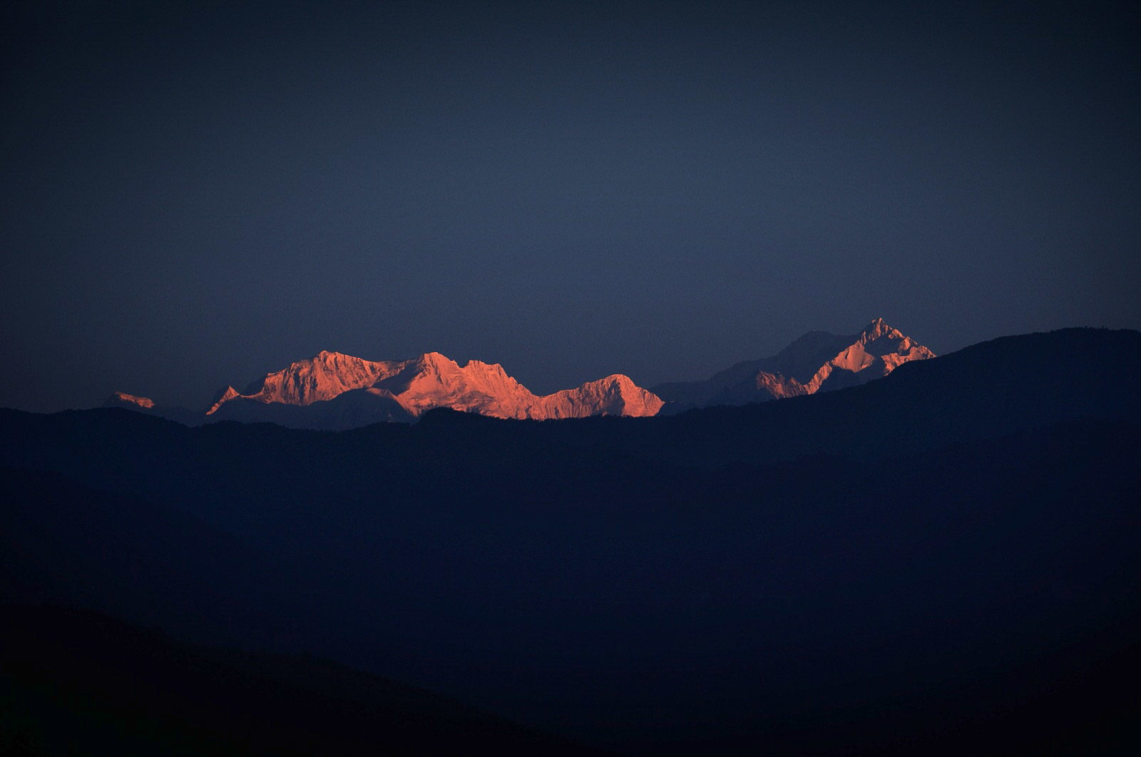 Kanchenjungha view from Kalimpong in India.