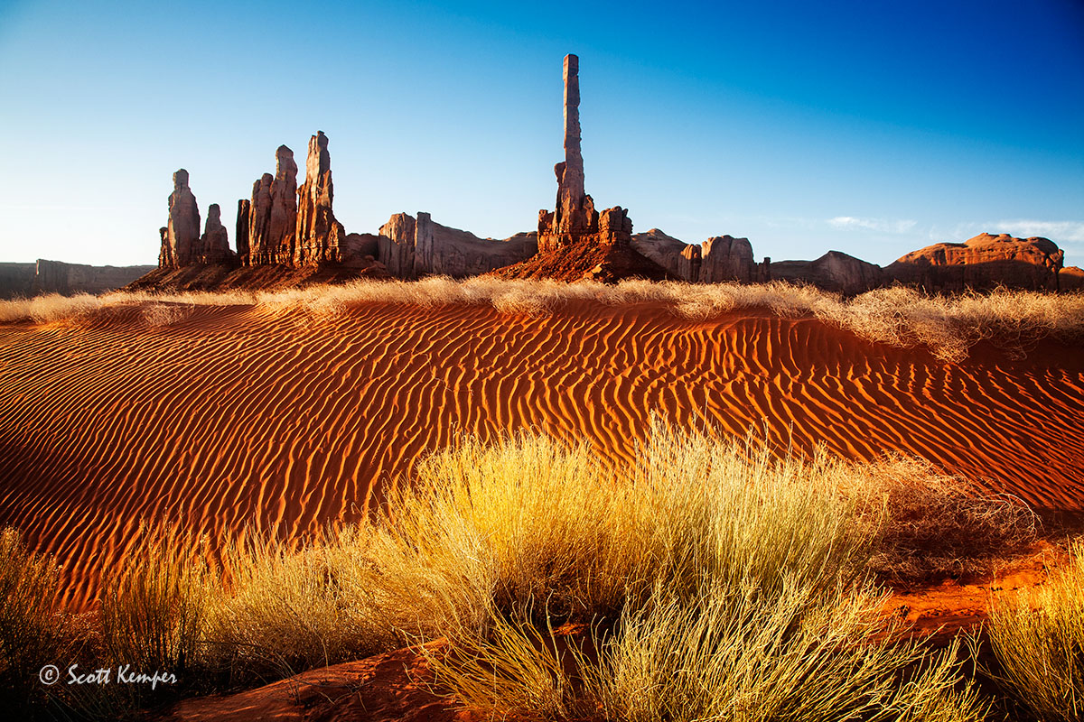 The Totem Pole and dunes