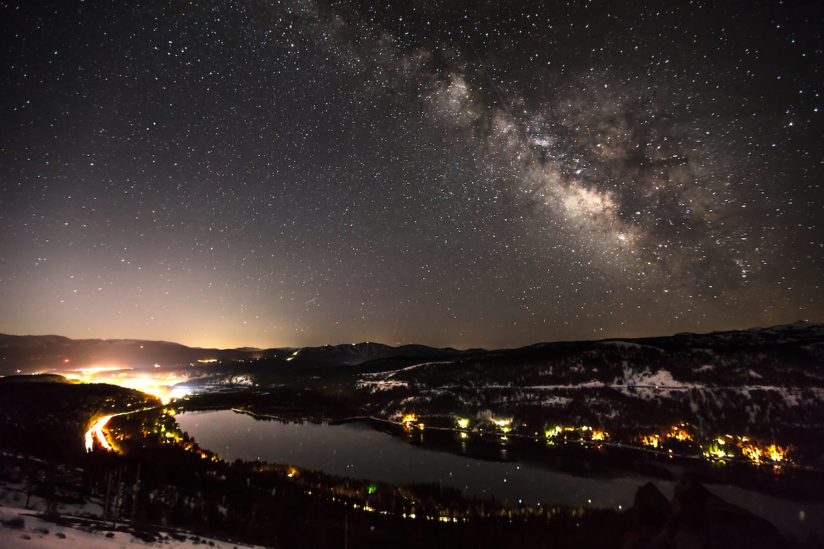 Milky Way Above Donner Lake 1