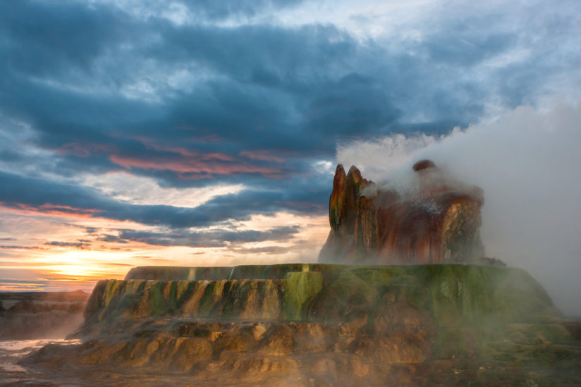 Fly Geyser Sunrise 2